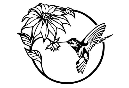 Flower Decal Sticker 032